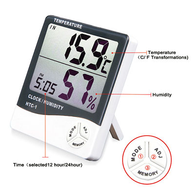 Large Display Therm.Hygrometer 03