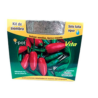 Kit de siembra I-Pot chile serrano Vita